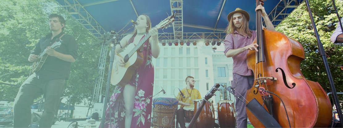 indie band performing at Boulder Creek Festival
