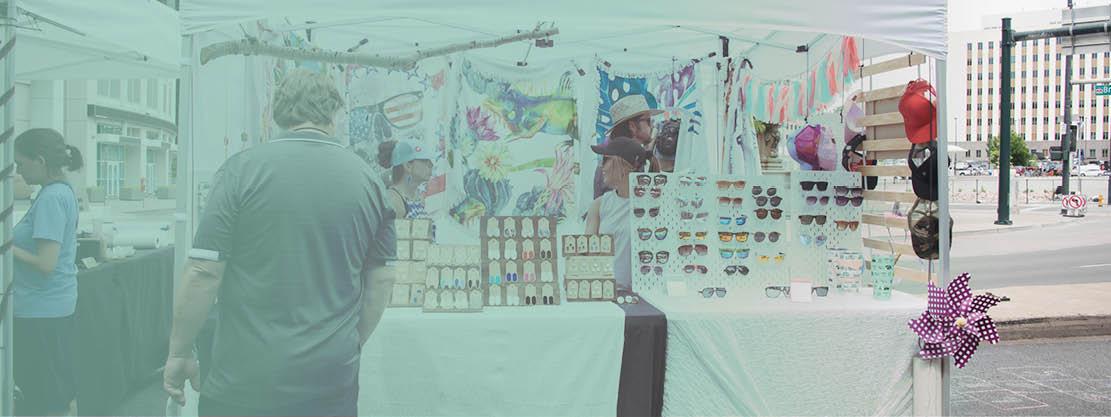 sunglasses vendor at Boulder Creek Festival